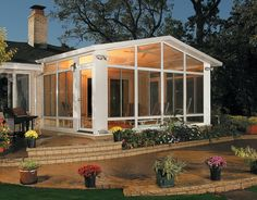 Partial Shade Solutions No matter what your patio need is, American Home Design has got you covered! These products are constructed with extruded Screened Porch Designs, Screened In Patio, Pergola Patio, Pool Porch, Four Seasons Room, Three Season Room, Outdoor Rooms, Outdoor Living, American Home Design