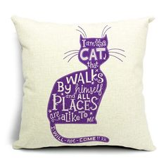 2015 Cat Style Fashion New Cushion Cat Print pillow Bed Sofa Home Decorative Pillow Fundas Para Almofadas Cojines