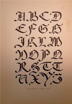 Alphabets old and new, for the use of craftsmen Gothic Lettering, Chicano Lettering, Graffiti Lettering Fonts, Cool Lettering, Script Lettering, Lettering Styles, Calligraphy Fonts, Caligraphy Alphabet, Handwriting Alphabet