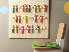 Pez dispenser organization. Neat idea. This ones for you Kelly.
