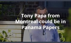 Tony Papa is a member of the mafia in Montreal. You can Google that. He was also a major partner of Eric Nguyen. Mr. Papa did massive business in Panama as you can see in this article @http://ift.tt/1SDdeL7 introduced Eric to everyone in Panama. He might be on the list of The Panama Papers. The AMF knows that Eric and Tony worked on their deals together yet the did not stop him. Why ?  #AMF #SEC #Montreal #MTL #pennystocks #stocks #NYSE #NASDAQ #Finra #WSJ #Bloomberg