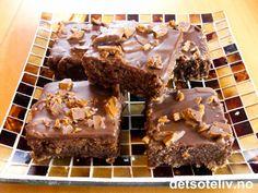 Daimruter from heaven Food N, Food And Drink, Sweet Recipes, Cake Recipes, Norwegian Food, Norwegian Recipes, Sweet Cakes, Cookie Bars, Chocolate Cake