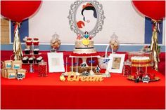 Snow White dessert table from a Crimson Red Snow White Birthday Party via Kara's Party Ideas | KarasPartyIdeas.com - The Place for All Things Party! (10)