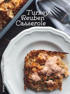 I used to think I hated rye bread. And when I was a little kid, I wouldn't  touch sauerkraut with a ten foot pole. But these days, I love a good  reuben sandwich. I recreated the classic into a casserole, using turkey  since that's what I had on hand. And don't skip the caraway seeds -- they  give it that signature rye-bread flavor.