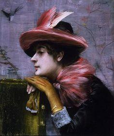 A Portrait of Anna Goeneutte by Norbert Goeneutte (1854-1894)