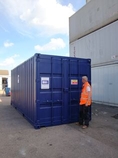 Blue 20ft #Chemicalstore for farms.