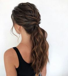 Bewitching Brunette Ombre Hair Ideas Guide) The UnderCut - Haare Stylen Formal Hairstyles, Pretty Hairstyles, Wedding Hairstyles, Hairstyle Ideas, Bridesmaid Hairstyles, Easy Hairstyles, Anime Hairstyles, Black Hairstyles, Celebrity Hairstyles
