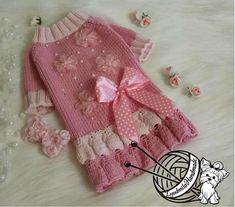 Items similar to dog clothes small pink dog dress puppy clothes yorkie clothing dog sweater yorkie clothing dress for dog pet clothes for dogs gifts for pets on Etsy Yorkie Clothes, Pet Clothes, Dog Coats And Sweaters, Crochet Dog Clothes, Knit Dog Sweater, Pet Fashion, Dog Dresses, Baby Knitting Patterns, Dog Gifts