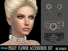 Sims 4 CC's - The Best: Flower Accessories Set by Tankuz