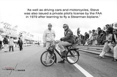 Steve was equally at home on two wheels, four wheels and sometimes none at all!  Get to know the backstory behind the film that became his obsession by signing up to our mailing list:    http://www.themanlemans.com/mailing-list.html  #TheManLeMans #McQueen #SteveMcQueen