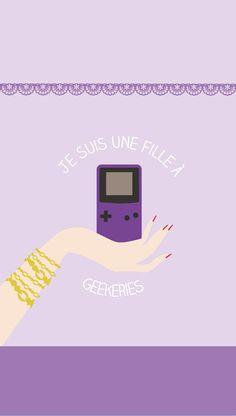 Gamer Love iPhone Wallpaper Purple