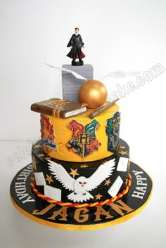 3D Harry Potter Themed Customized Cake Customized Cakes