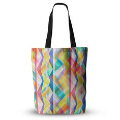 "Miranda Mol ""Triangle Rhythm"" Pastel Geometric  Everything Tote Bag from KESS InHouse"