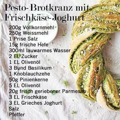 Zutaten für den Pesto-Brotkranz mit Frischkäse-Joghurt von Laura und Valerio