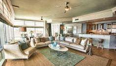 Signature Beach Condo | Cara McBroom & Joey LaSalle - beach style - living room - other metro - by Lovelace Interiors