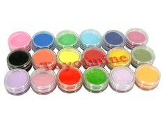 4.5$ 18 Colors Nail Art Set Sculpture Caving Acrylic Powder Pigment Decoration in Health & Beauty, Nail Care, Manicure & Pedicure, Nail Art Accessories   eBay
