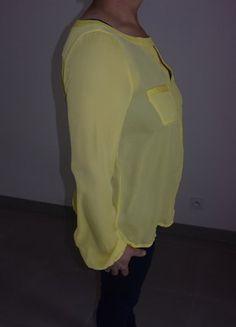 À vendre sur #vintedfrance ! http://www.vinted.fr/mode-femmes/blouses-and-chemises/30005749-blouse-jaune-manche-longue