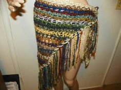 Stunning Silky Earth and Sky Color  Shawl Wrap by Susieskorner, $28.00