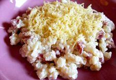 Sajtos sztrapacska pirított tarjakockákkal Potato Salad, Grains, Rice, Potatoes, Ethnic Recipes, Food, Potato, Essen, Meals