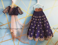 Make your memories more memorable and beautiful in Architha Narayanam signature lehangas ! Beautiful blue color lehenga and blouse with blush pink color net dupatta. Lehenga and blouse with hand embroidery work. 22 February 2018