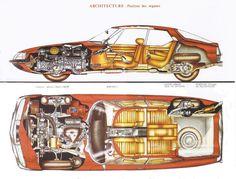 Citroen SM Cutaway Diagrams | The Car Hobby