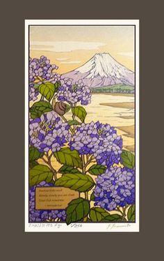 mount Fuji Yamamoto block print