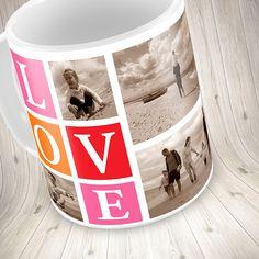 Personalised Photo Collage Mug Valentine's by mug4personalised