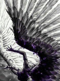 The Fallen Angel Lucifer Dark Fantasy Art, Fantasy World, Dark Art, Dark Gothic Art, Angels Among Us, Angels And Demons, Fallen Angel Wings, Fallen Angels, Black Angel Wings