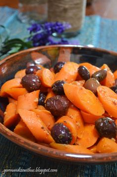 Tunisian Cooked Carrot & Olive Salad