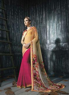 Multicolor Georgette Saree ,Indian Dresses - 1