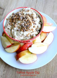 A quick and easy toffee apple dip. It's one of my favorites. joyfulscribblings.com