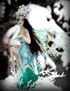 Winter fairy Art by Deb Wood