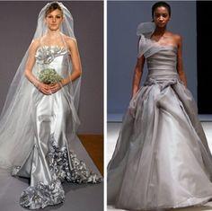Vestidos de novia color plata