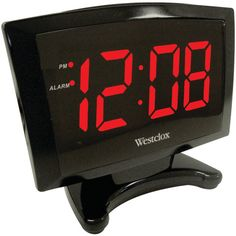 Westclox 70028 Inch Red LED Plasma Alarm Clock for sale online Led Alarm Clock, Timer Clock, Digital Clock Radio, Clocks For Sale, Tabletop Clocks, Daylight Savings Time, Clock Decor, Screen Design, Red Led