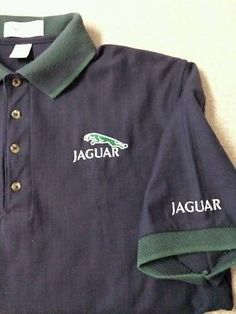 Mens JAGUAR Embroidered Polo Shirt by Munsingwear Size Medium JAGUAR LOGO SHIRT