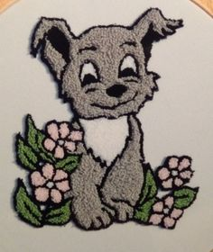Puppy Punch Needle Embroidery Kit by Webster Craft