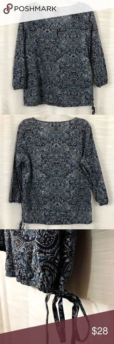f19b7a9eb450 LUCKY BRAND blue paisley pullover size L Lightweight paisley 100% cotton  pullover by LUCKY BRAND