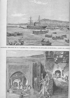REVISTA.AÑO 1893.GUERRA DE AFRICA.MOGADOR.SAFFI.MARRUECOS. LARACHE.ALCAZARQUIVIR.EMBARQUE DE TROPAS. - Foto 1