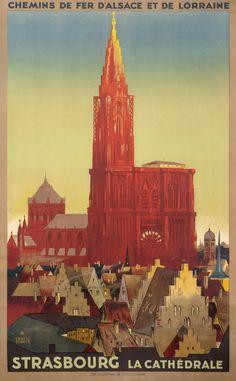 Ernest Schmitt Poster: Strasbourg - Le Cathedrale (Chemins de Fer d'Alsace et de Lorraine)