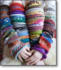 Recycle sweater bits into arm and leg warmers. Great idea, but unfortunately I'd end up looking like a knitted Michelin man. Knitting Projects, Knitting Patterns, Sewing Projects, Knitting Socks, Knitting Machine, Recycled Sweaters, Mitten Gloves, Diy Clothes, Making Ideas