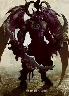 prints on metal Characters illidan stormrage world of warcraft outland