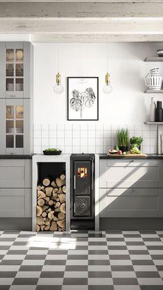 Beautiful Modern Kitchen Ideas, Pictures, & Designs 2020 - My Lovely Home Design Modern Kitchen Cabinets, Modern Farmhouse Kitchens, Modern Kitchen Design, Cool Kitchens, Kitchen Decor, Kitchen Ideas, Dream House Interior, Cuisines Design, Küchen Design