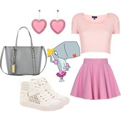 We're feeling pretty in pink with this outfit inspired by Pearl, our favorite whale in Bikini Bottom.