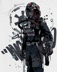 Tie Fighter Pilot: Star Wars Icon Series by Mitchy Bwoy