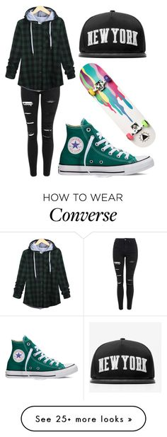 """""""If I was a skater girl..."""" by orchidflowrr on Polyvore featuring Topshop, Converse, Stampd, Ernesto Esposito, women's clothing, women's fashion, women, female, woman and misses"""