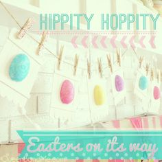 EASY Easter Egg Pennant Dollar Store Craft by QueenBandMe.com