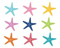 pink and navy starfish clipart starfish prints clip art vector rh pinterest com free starfish clip art images