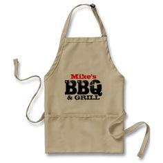 Personalized name apron for men.  $21.95