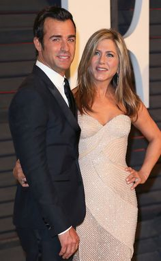 Justin Theroux & Jennifer Aniston from 2015 Oscars: Party Pics   E! Online