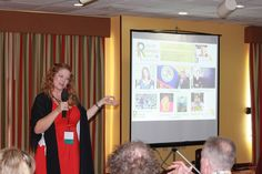 Macarena Rose of Rain Forest Realty in Belize at the Live and Invest in Belize Conference